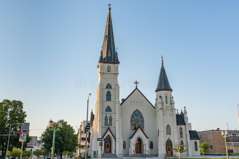 St Mary ` s Katholieke Kerk Lincoln, Nebraska stock afbeelding