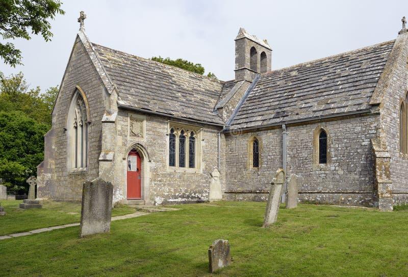 St Mary ` s Kerk, Tyneham stock foto