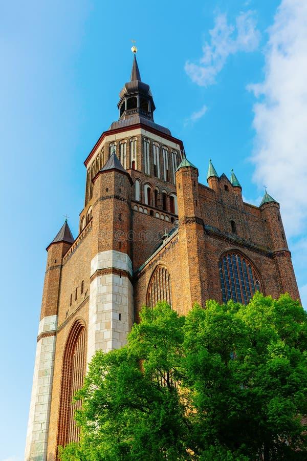 St- Mary` s Kirche in Stralsund, Deutschland stockbilder
