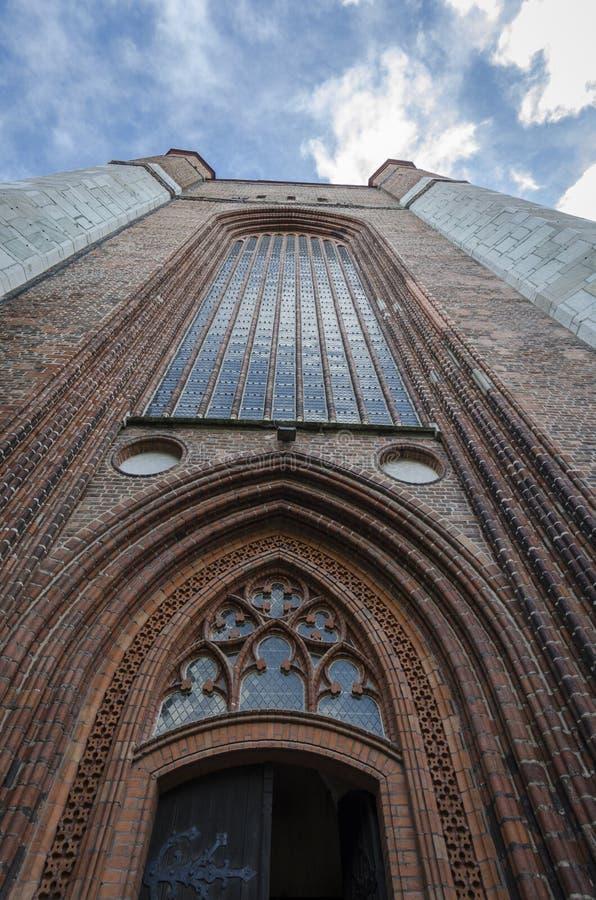 St- Mary` s Kirchturm, Stralsund, Deutschland lizenzfreies stockfoto