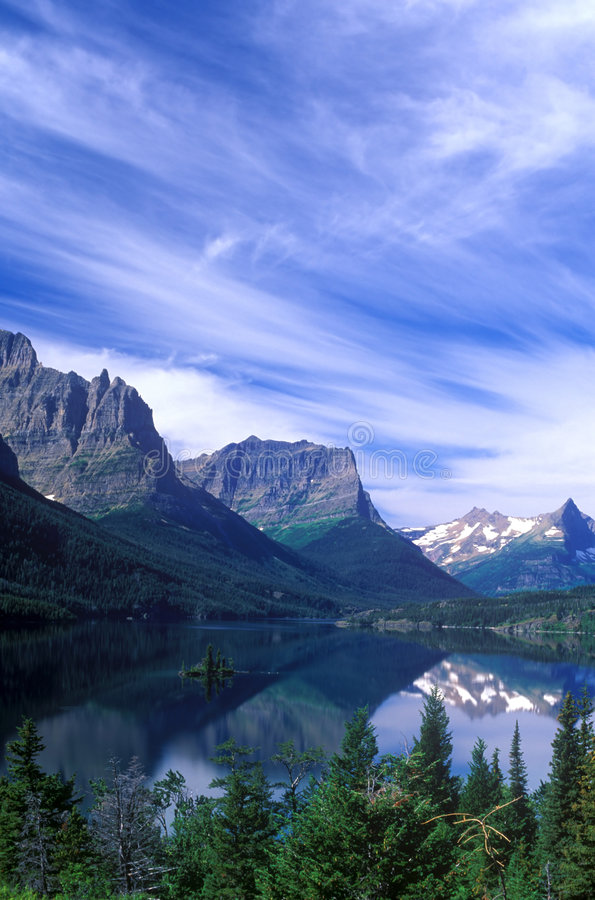 Download St. Mary's Lake stock image. Image of evergreen, beauty - 1805079