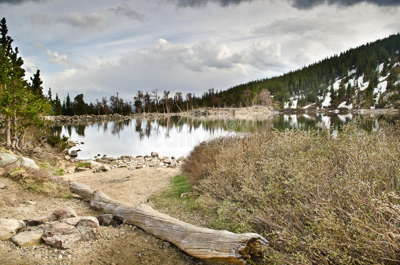 St. Mary S Lake In Colorado Stock Photo