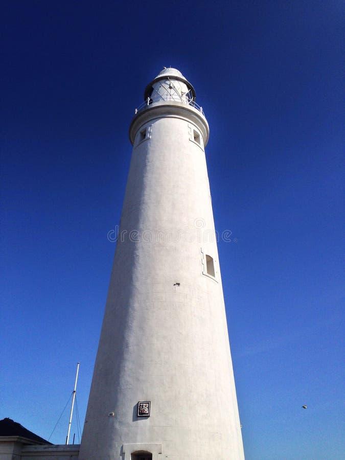 St Mary's Lighthouse stock photo