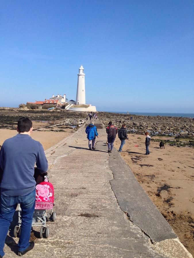 St Mary's Lighthouse stock images