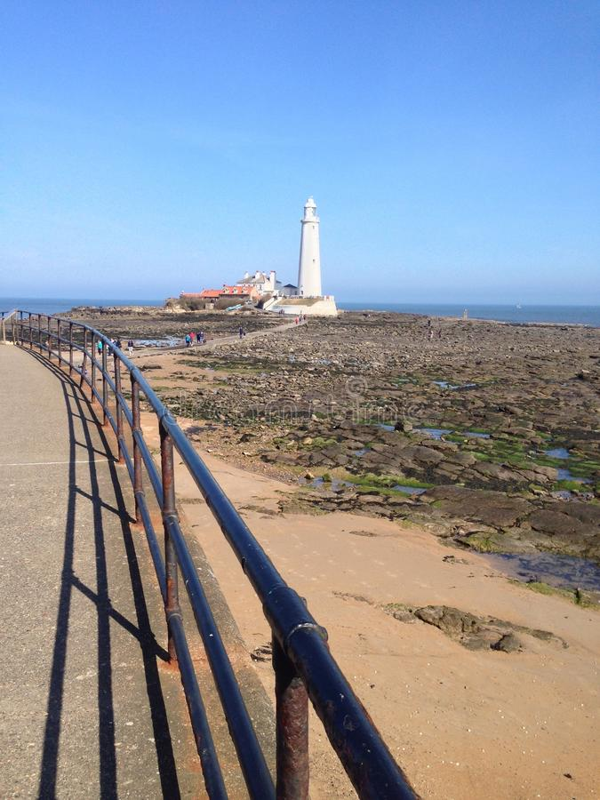 St Mary's Lighthouse stock photography
