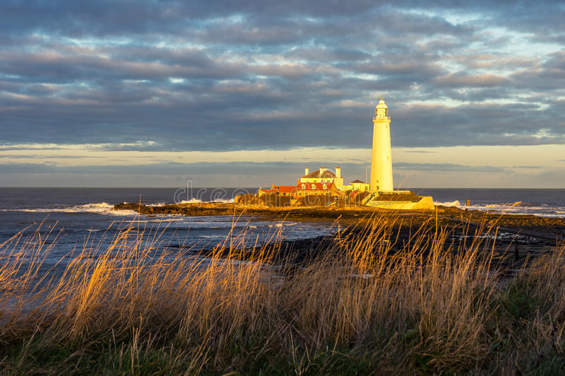 St. Mary`s Lighthouse stock images