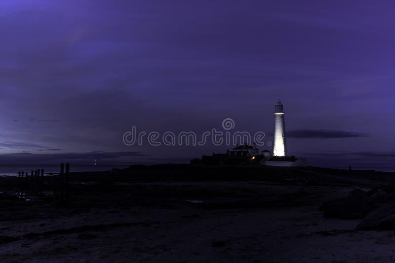 St Mary's Lighthouse, royalty free stock photos
