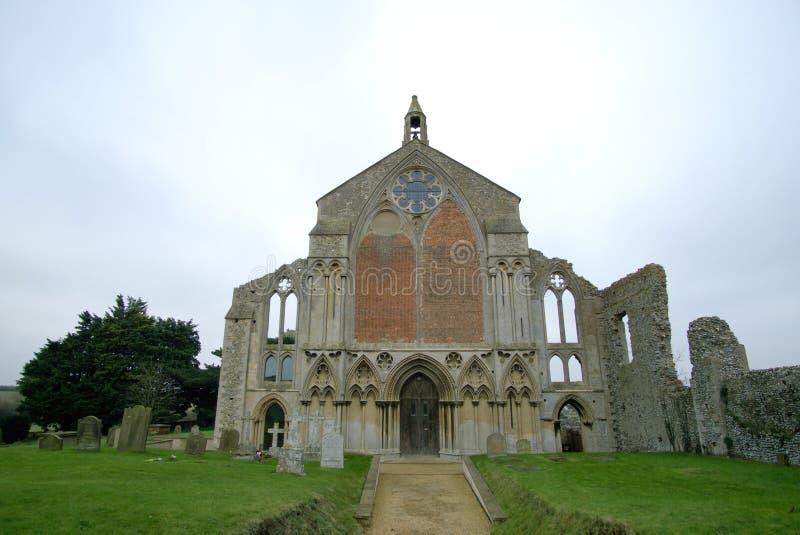 St Mary`s priory in Binham. stock photo
