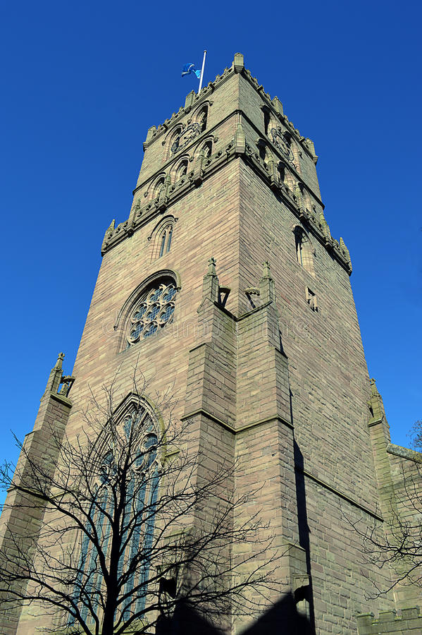 St Mary`s Tower Old Steeple, City Churches, Dundee, Scotland royalty free stock photo