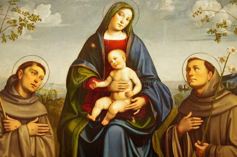 St Mary und Jesus Christ lizenzfreies stockfoto