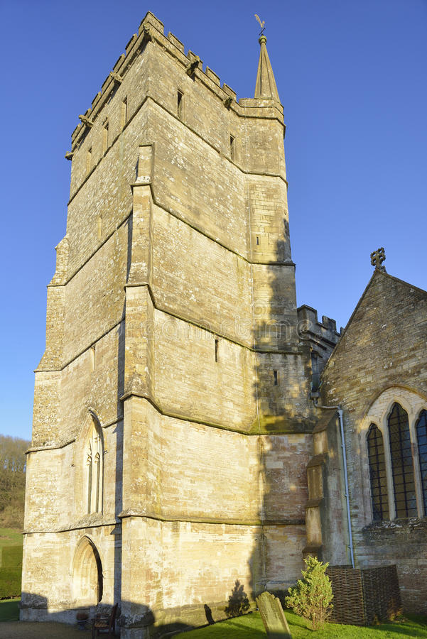 St Mary The Virgin Church Tower, Hawkesbury stock photos