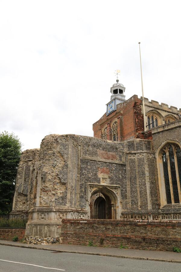 St Mary the Virgin, East Bergholt Unfinished Bell Tower royalty free stock photo