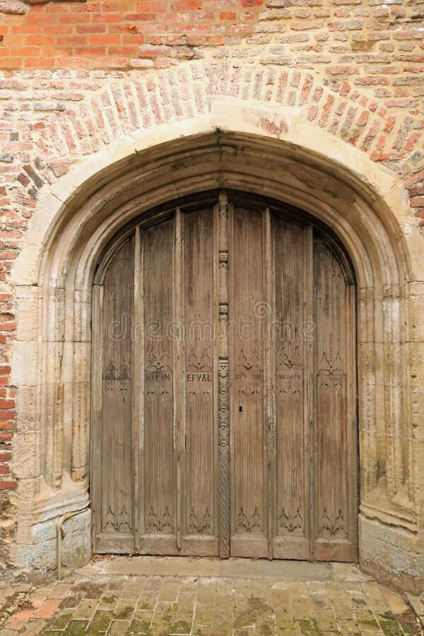 St Mary the Virgin, East Bergholt - West Door royalty free stock image