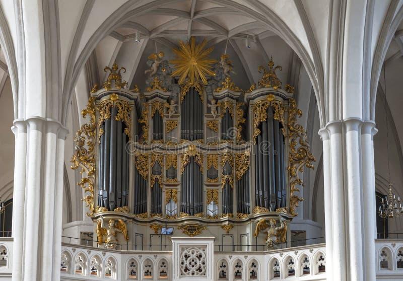 St Maryjny kościelny organ obrazy royalty free