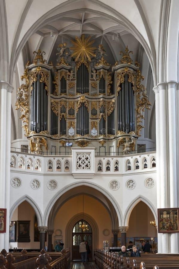 St Maryjny kościelny organ zdjęcie stock
