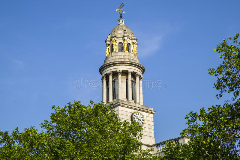 St. Marylebone Parish Church in London. A view of St. Marylebone Parish Church in London royalty free stock image