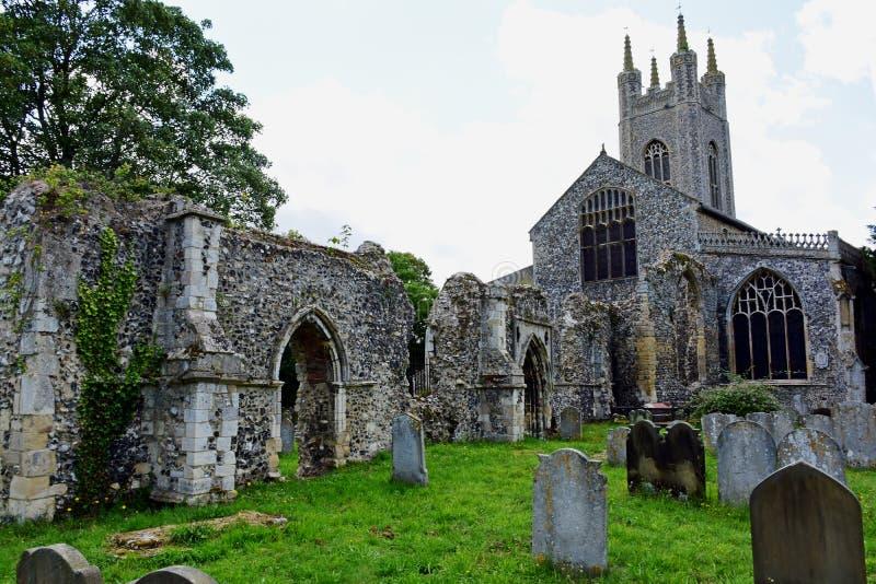 St Marys圣十字的教会&小修道院,邦吉 免版税库存照片