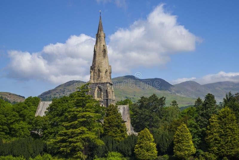 St Marys教会在Ambleside 免版税库存照片