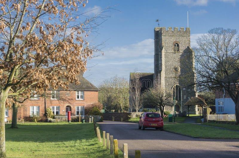 St Marys教会, Chartham,肯特 库存图片