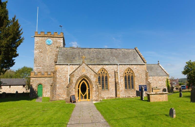 St Marys church Hemyock Blackdown Hills east Devon England UK. Beautiful blue sky royalty free stock photo