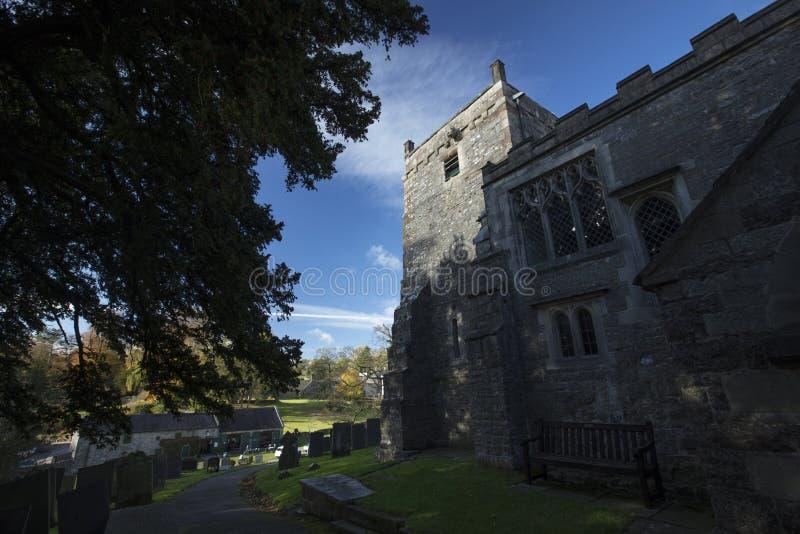 Tissington, Derbyshire, UK: October 2018: Saint Marys Church stock photography