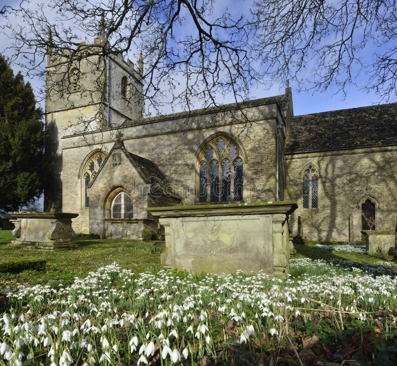 St Marys Norman Church, Beverston royaltyfri bild