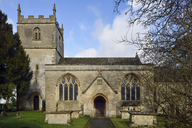 St Marys Norman Church, Beverston arkivbilder