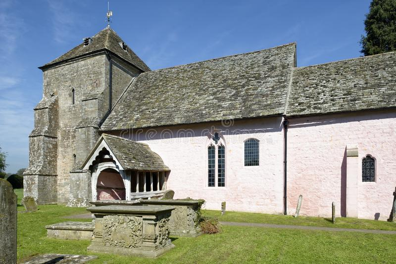 St Marys Norman Church, Kempley royaltyfria foton