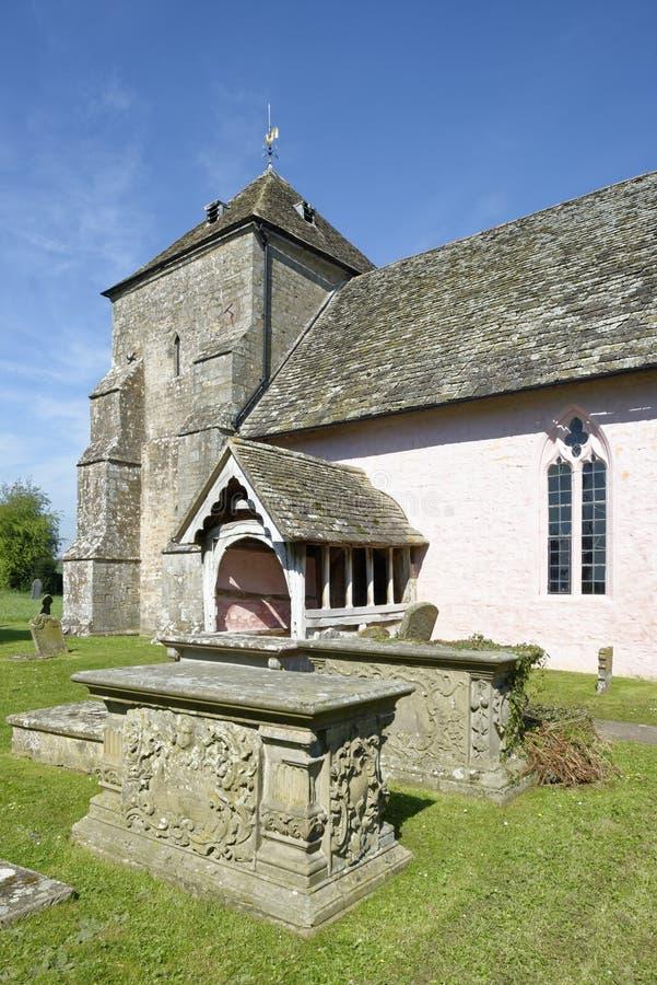 St Marys Norman Church, Kempley royaltyfri foto