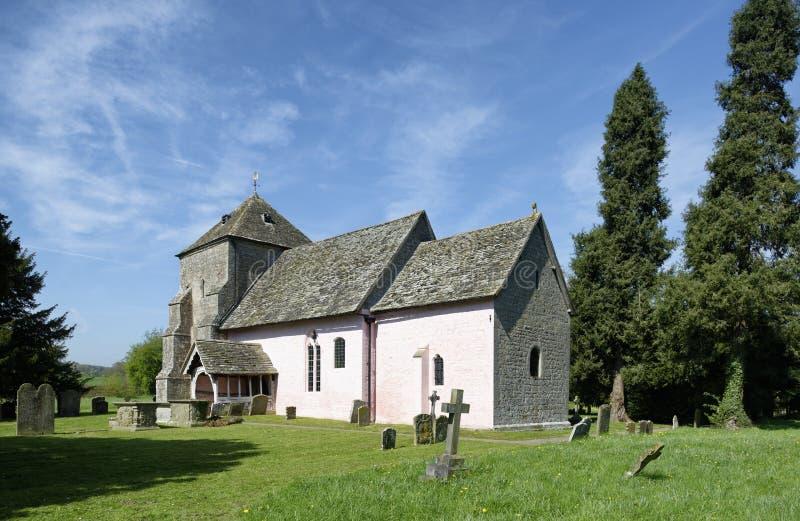St Marys Norman Church, Kempley arkivbilder