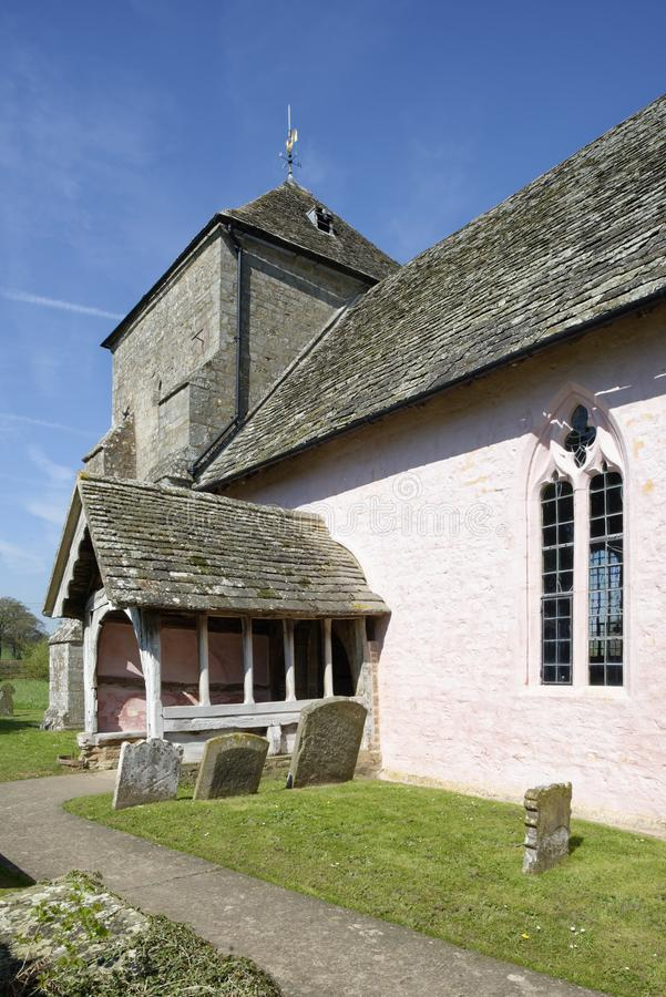 St Marys Norman Church, Kempley, Newent royaltyfri bild