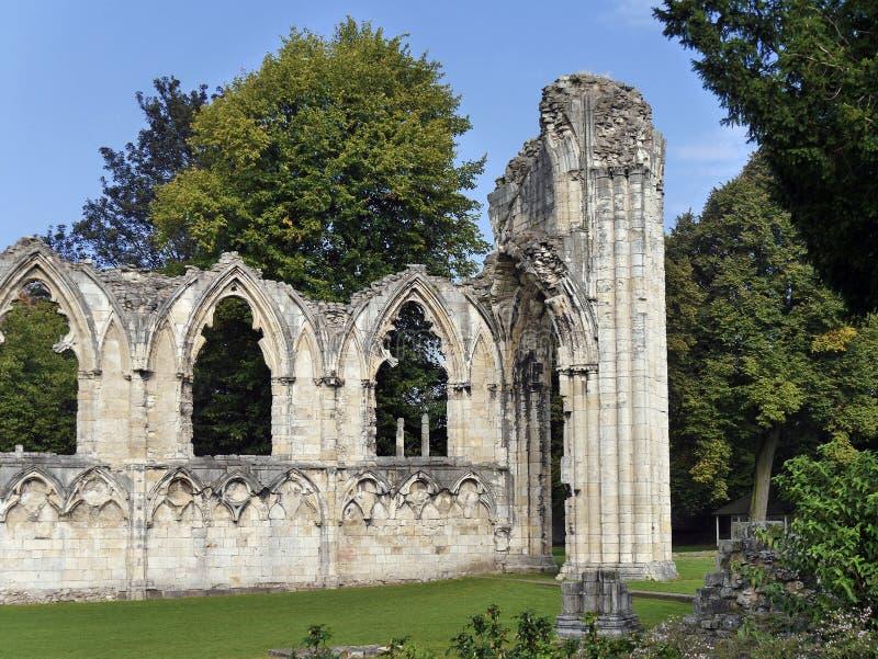 St Marys opactwa ruiny zdjęcie royalty free