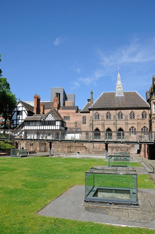 St Marys Priory Garden, Coventry. stock image