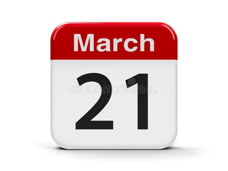 21st Marzec royalty ilustracja
