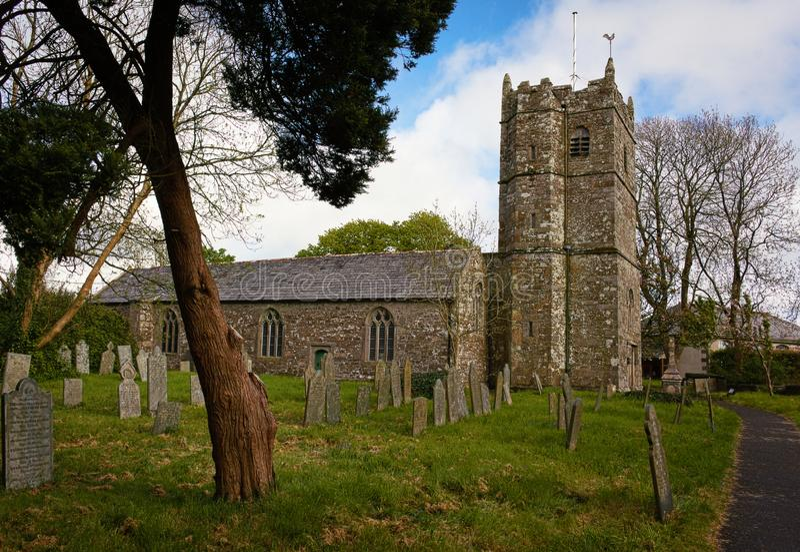 St Teath Parish Church - III - Tintagel - Cornwall royalty free stock photo