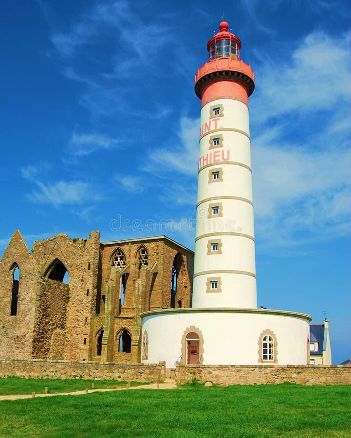st mathieu маяка brittany стоковые фото