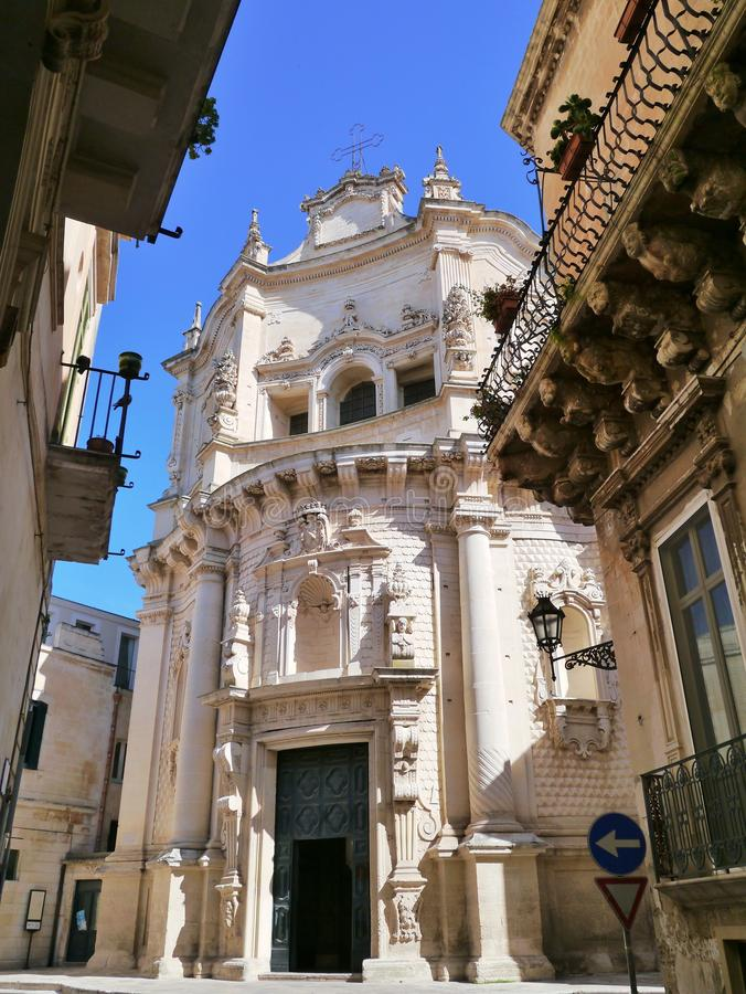St Matteo i Lecce royaltyfria foton