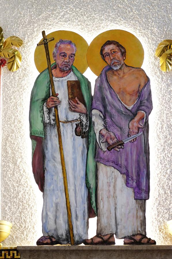 St Matthew et St Bartolomew illustration stock