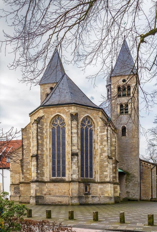 St Mauritz kerk, Munster, Duitsland stock foto's