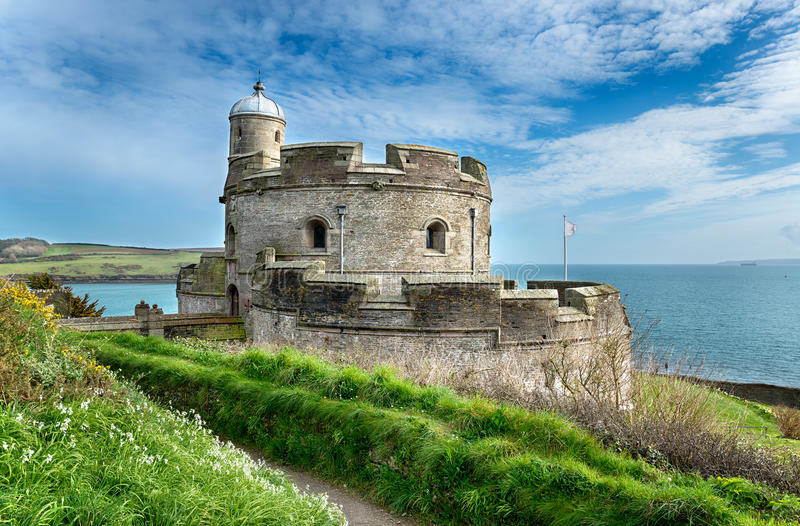 St Mawes城堡 库存图片
