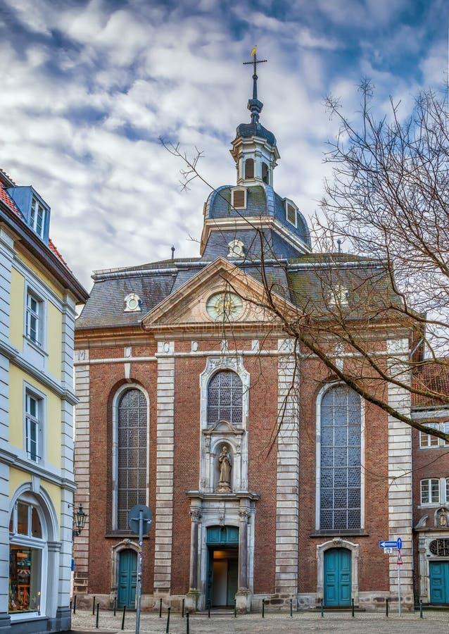 St Maximilian Church, Düsseldorf, Alemania foto de archivo libre de regalías