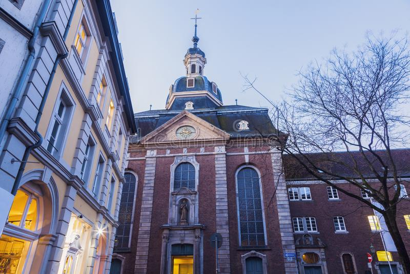 St Maximilian Church en Düsseldorf fotos de archivo libres de regalías