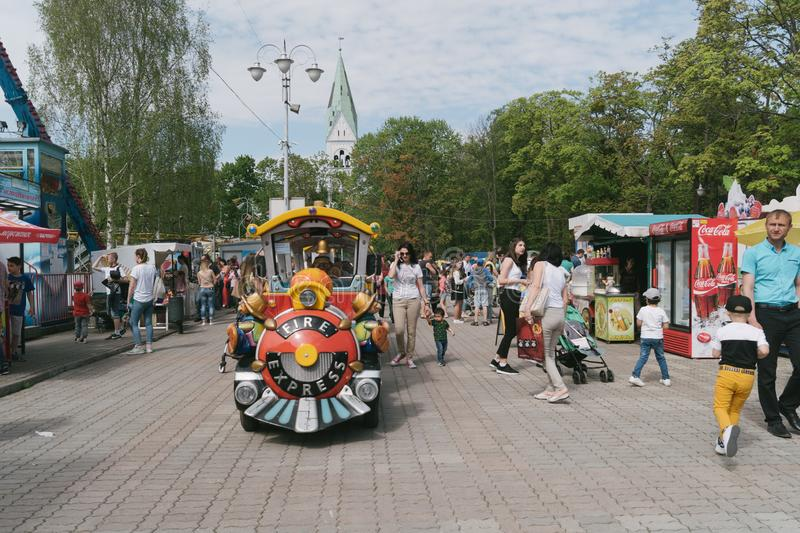 1st of May Celebrations in Kaliningrad, Russia stock image