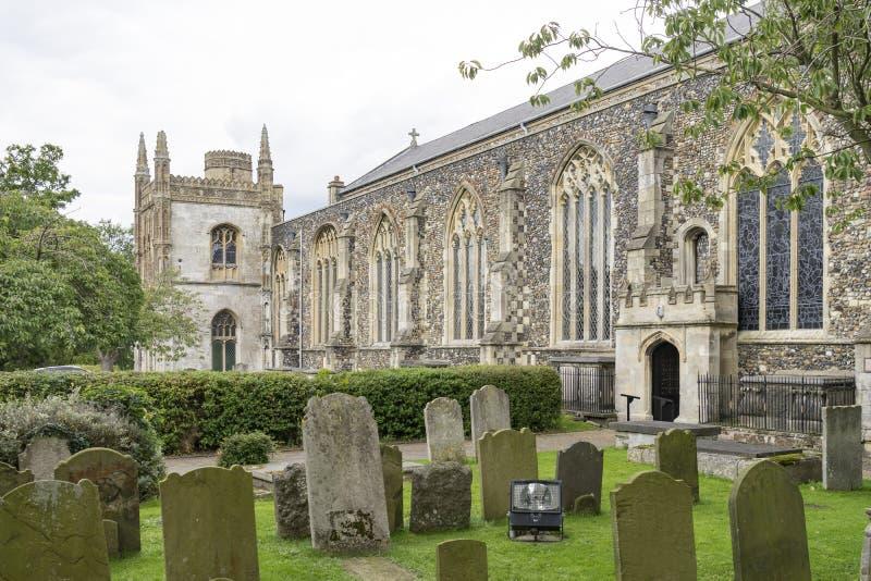 St Michael приходская церковь Архангела, Beccles, суффольк, Englan стоковые фотографии rf