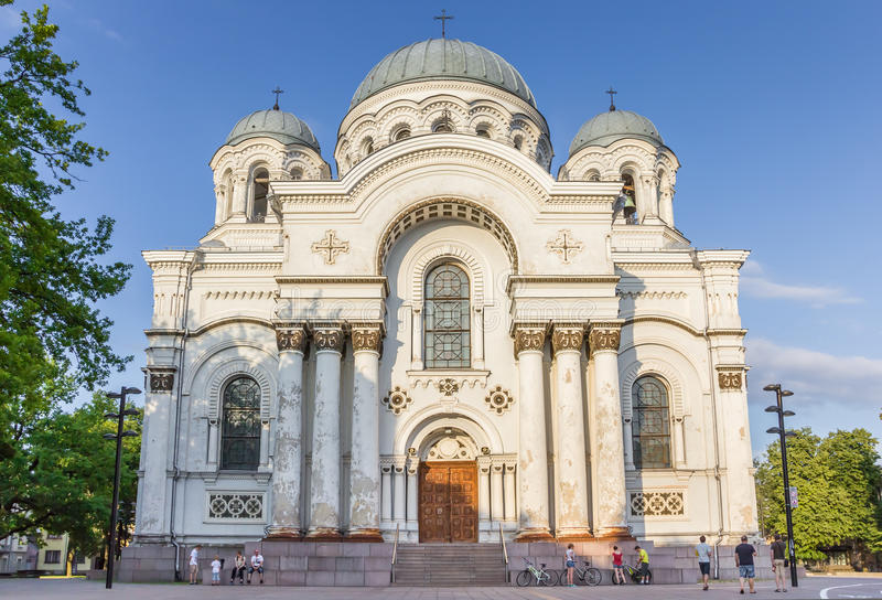 St. Michael the Archangel church in Kaunas royalty free stock image