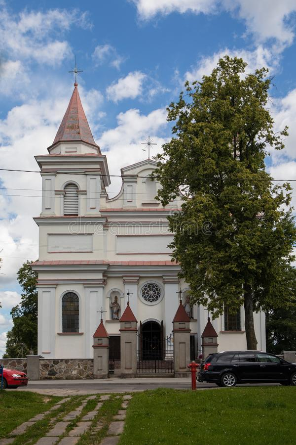 St. Michael the Archangel Church in Sirvintos stock photo