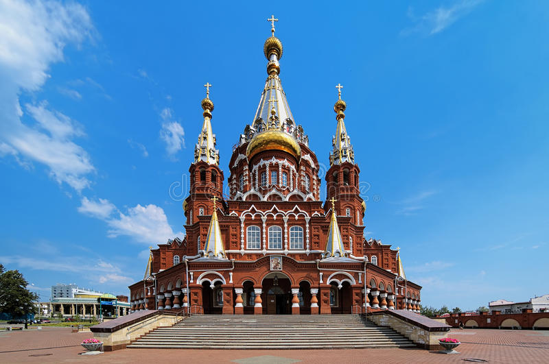 St. Michael cathedral in Izhevsk, Russia royalty free stock photos