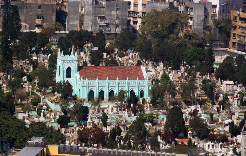 St. Michael Cemetery, Macao royaltyfria foton