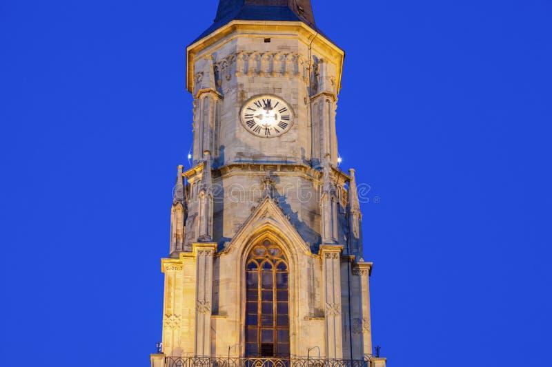 St Michael Church in cluj-Napoca royalty-vrije stock foto's