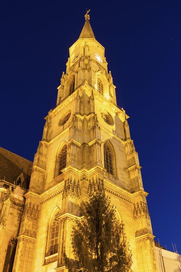 St Michael Church in cluj-Napoca stock fotografie